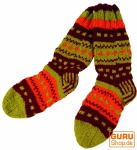 Handgestrickte Schafwollsocken, Nepal Socken 38-41