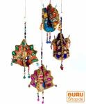Mobile Pfau farbenfrohes orientalisches Dekoset aus Indien