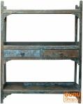 Rustikales Bücherregal, Küchenregal, Massivholz, Vintage Look - Modell 6