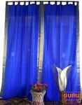 Vorhang, Gardine (1 Paar Vorhänge, Gardinen) aus Sareestoff - blau