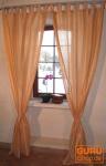 Vorhang, Gardine (1 Paar Vorhänge, Gardinen) aus Sareestoff - lachs