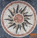 Sonnen Mosaik grau (120*120 cm)