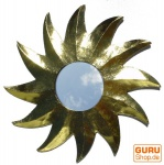 Sonnenspiegel, Deko Spiegel aus Holz in Sonnenform- gold 3