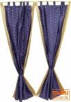 Vorhang, Gardine (1 Paar Vorhänge, Gardinen) aus Sareestoff - dunkelbau