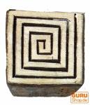 Holzstempel Spirale des Lebens