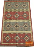 Orientalischer grob gewebter Kelim Teppich 250*150 cm - Muster 1