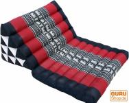 Thaikissen, Dreieckskissen, Kapok, Tagesbett mit 1 Auflage - Elefant schwarz/rot