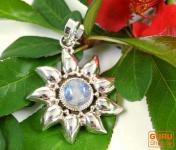 Silberanhänger Sonne 1 Mondstein