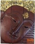 Dreiteiliges Buddhawandbild - braun 51*40 cm - Design 11