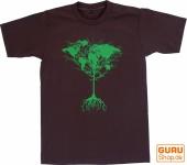 Fun T-Shirt `Weltbaum` - braun