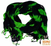 Batiktuch - schwarz /grün