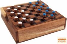 Brettspiel, Gesellschaftsspiel aus Holz - Checkers