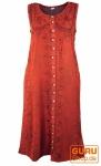 Besticktes Boho Sommerkleid, indisches Hippie Kleid mit Knopfleiste, rot - Design 23