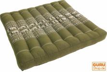 Sitzkissen, Bodenkissen, BodenmatteThai, aus Kapok, 50*50 cm - grün