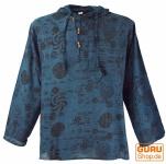Yoga Hemd, Goa Hemd Om, Sweatshirt - blau