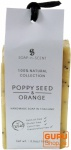 Handgemachte Getreideseife, Mohnsamen - Orange, 100 g, Fair Trade