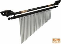 Indonesisches Aluminium Klangspiel, exotisches Windspiel mit Schnitzerei - Variante 2