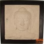 Steinbild Buddha - Buddha weiß
