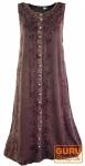 Besticktes Boho Sommerkleid, indisches Hippie Kleid - brombeer - Design 11