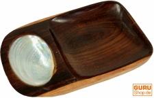 Exotische Holzschale mit Perlmuteinlage