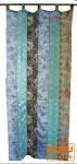 Vorhang (1 Stk.) Gardine aus Patchwork Sareestoff - türkis