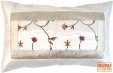 Orientalische Brokat Kissenhülle 70*45 cm - weiß