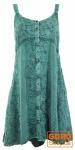 Besticktes indisches Kleid, Boho Minikleid, türkisblau - Design 22