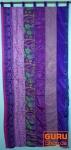 Vorhang (1 Stk.) Gardine aus Patchwork Sareestoff, Unikat - lila bunt