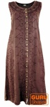 Besticktes Boho Sommerkleid, indisches Hippie Kleid, brombeer - Design 16