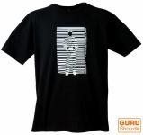 Fun T-Shirt `Barcode` - schwarz