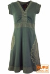 Minikleid, Boho Kleid Mandala Organic - grün