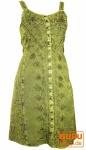 Besticktes indisches Boho Kleid, Hippie chic Minikleid, lemon - Design 25