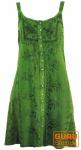 Besticktes indisches Kleid, Boho Minikleid, grün - Design 29