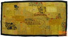 Patchwork Wandbehang, Wandteppich, Einzelstück 125*65 cm - c7