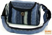 Kleine gewebte Schultertasche, Nepaltasche - blau
