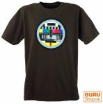 Fun T-Shirt `Testbild` - braun