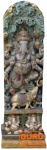 Antike Holzskulptur XXL, Wand Dekoration - Ganesha