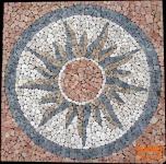 Sonnen Mosaik rot (120*120 cm)