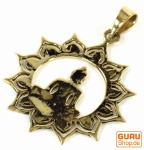 Amulett `Buddha` Kettenanhänger aus Messing