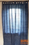 Vorhang, Gardine (1 Paar Vorhänge, Gardinen), Indigo Druck