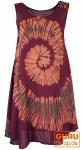 Batik Tunika, Hippie chic, Strandkleid, Sommerkleid - bordeaux