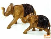 Geschnitzter Deko Elefant in verschiedenen Größen