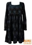 Hippie Minikleid Boho chic, Tunika - schwarz/blau