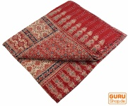 Quilt, Steppdecke, Tagesdecke Bettüberwurf, Besticktes Tuch, Indischer Bettüberwurf, Tagesdecke - Muster 10
