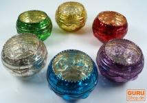 Antik look Glas Teelicht in verschiedenen Farben