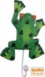 Bunter Holzkleiderhaken, Wandhaken, Kleiderhaken - Frosch 1