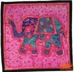 Patchwork Kissenhülle Rajasthan, Einzelstück - 19