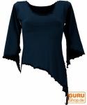 Psytrance Elfen Shirt Goa chic mit ausgestellten Ärmeln - schwarz