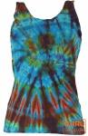 Farbenfrohes Goa-Batik Tanktop - blau/bunt