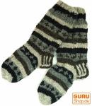 Handgestrickte Schafwollsocken, Nepal Socken 42-44
